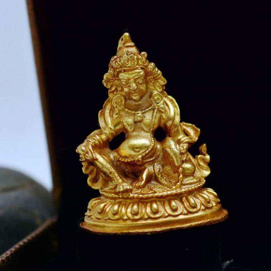 Tượng Phật Vàng Hoàng Thần Tài Dzambala Nepal