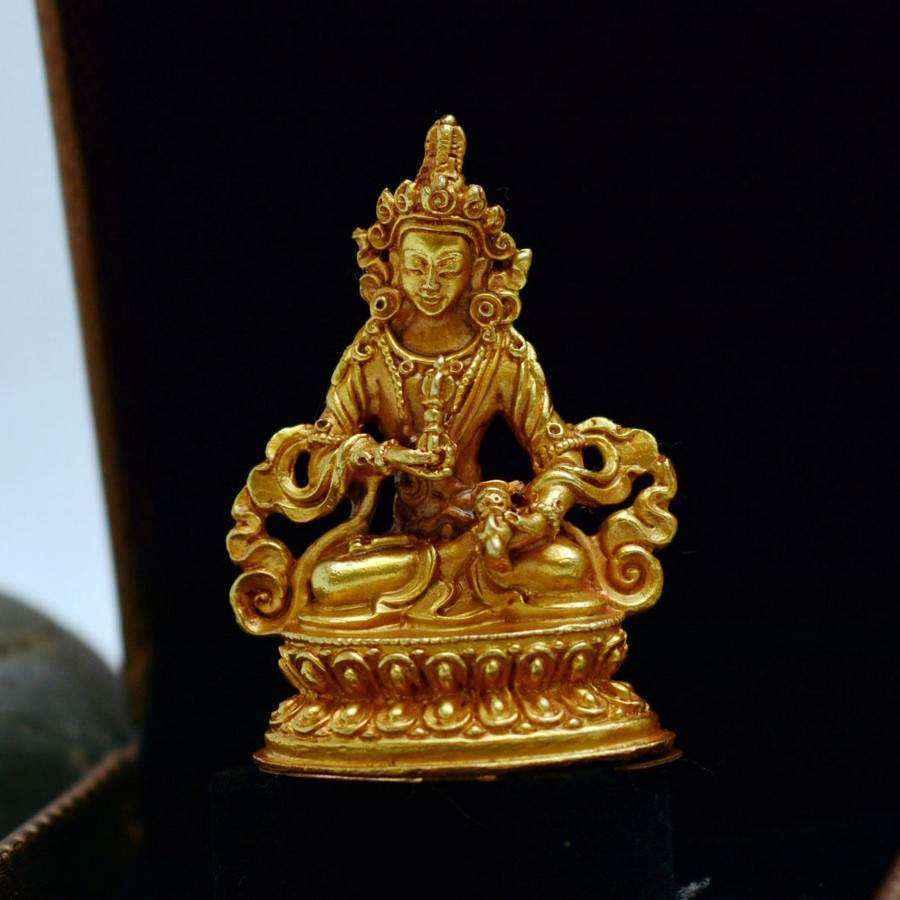 Tượng Phật Vàng Nepal Kim Cang Tát Đỏa Bồ Tát Vajrasattva (nhỏ)