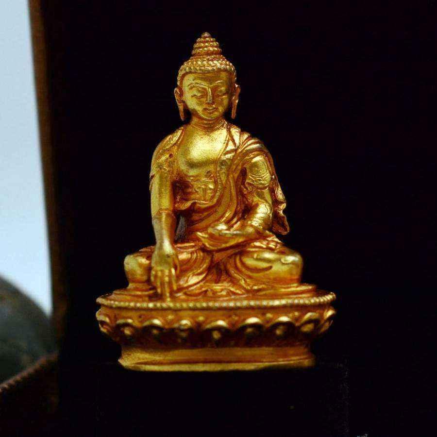 Tượng Phật Vàng A Di Đà Amitabha Nepal (nhỏ)