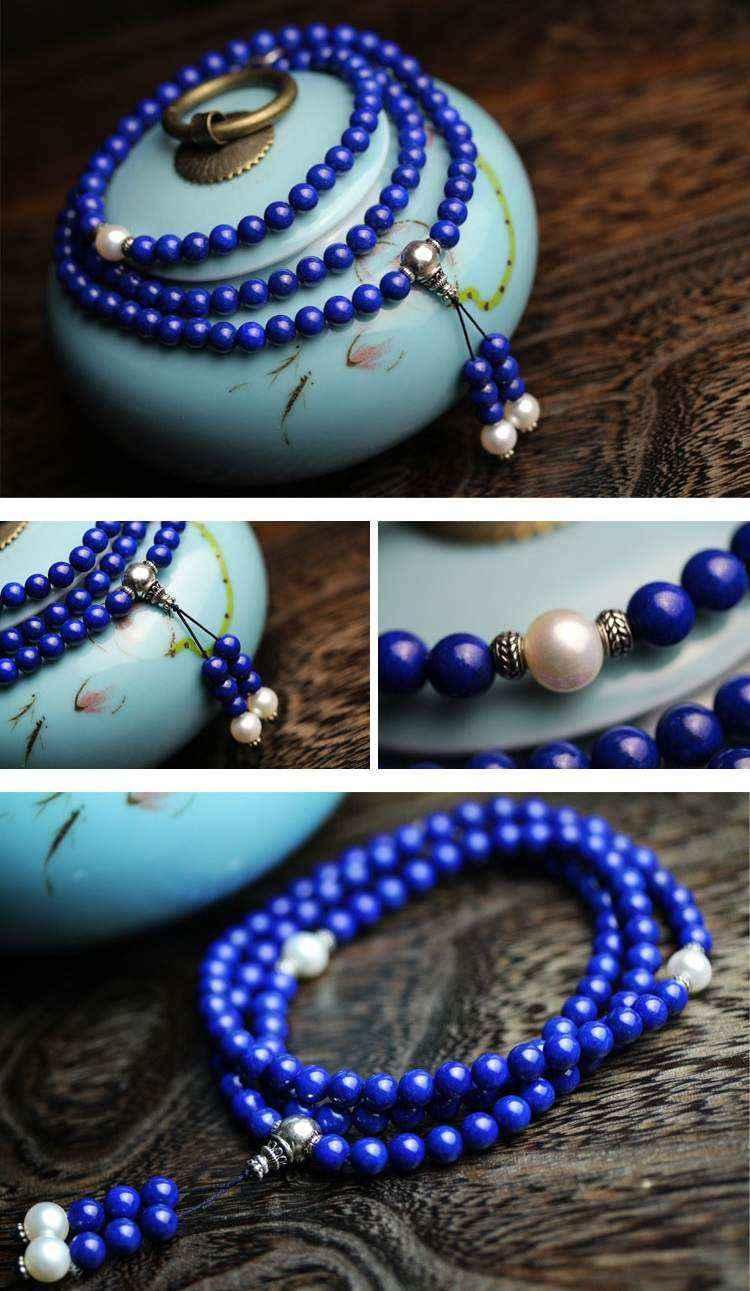 Chuỗi Hạt 108 Đá Lapis Lazuli